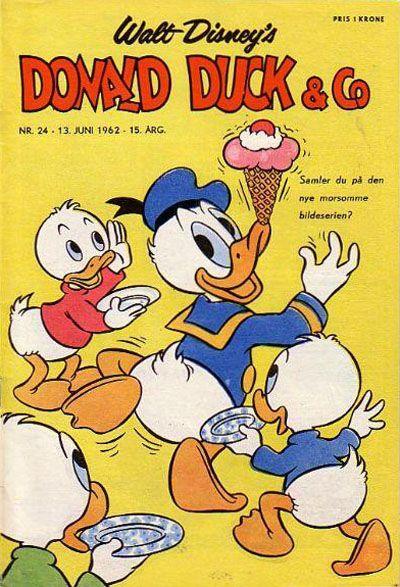 Cover for Donald Duck & Co (Hjemmet / Egmont, 1948 series) #24/1962