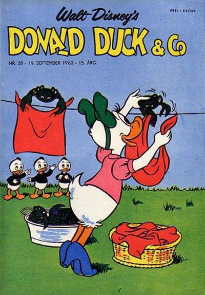 Cover for Donald Duck & Co (Hjemmet / Egmont, 1948 series) #38/1962