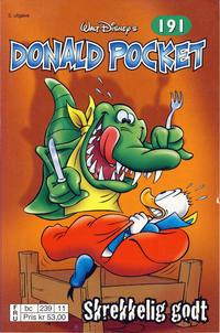 Cover Thumbnail for Donald Pocket (Hjemmet / Egmont, 1968 series) #191 - Skrekkelig godt [2. opplag bc 239 11]