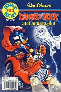 Cover Thumbnail for Donald Pocket (Hjemmet / Egmont, 1968 series) #192 - Donald Duck ser spøkelser [1. opplag]