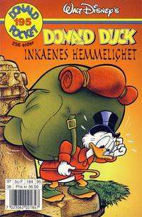 Cover Thumbnail for Donald Pocket (Hjemmet / Egmont, 1968 series) #195 - Donald Duck Inkaenes hemmelighet [1. opplag]