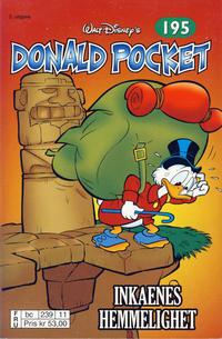 Cover Thumbnail for Donald Pocket (Hjemmet / Egmont, 1968 series) #195 - Inkaenes hemmelighet [2. opplag bc 239 11]