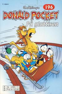 Cover Thumbnail for Donald Pocket (Hjemmet / Egmont, 1968 series) #196 - På glattisen [2. opplag bc 239 11]