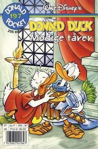Cover Thumbnail for Donald Pocket (Hjemmet / Egmont, 1968 series) #197 - Donald Duck Modige tårer [1. opplag]