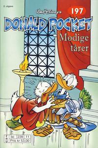 Cover Thumbnail for Donald Pocket (Hjemmet / Egmont, 1968 series) #197 - Modige tårer [2. opplag bc 239 11]