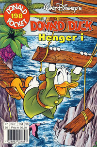 Cover Thumbnail for Donald Pocket (Hjemmet / Egmont, 1968 series) #198 - Donald Duck henger i [1. opplag]
