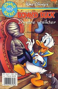 Cover Thumbnail for Donald Pocket (Hjemmet / Egmont, 1968 series) #202 - Donald Duck Dystre utsikter [1. opplag]