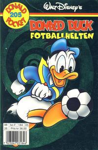 Cover Thumbnail for Donald Pocket (Hjemmet / Egmont, 1968 series) #205 - Donald Duck Fotballhelten [1. opplag]