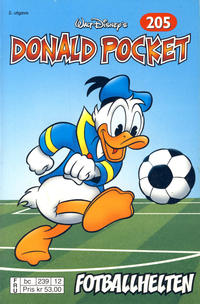 Cover Thumbnail for Donald Pocket (Hjemmet / Egmont, 1968 series) #205 - Fotballhelten [2. opplag bc 239 12]