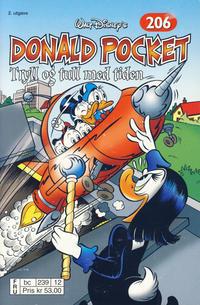 Cover Thumbnail for Donald Pocket (Hjemmet / Egmont, 1968 series) #206 - Tryll og tull med tiden [2. opplag bc 239 12]