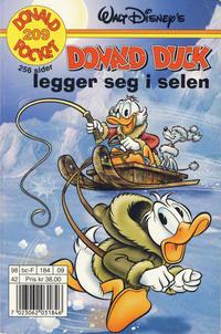 Cover Thumbnail for Donald Pocket (Hjemmet / Egmont, 1968 series) #209 - Donald Duck legger seg i selen [1. opplag]