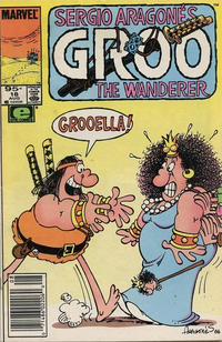 Cover for Sergio Aragonés Groo the Wanderer (Marvel, 1985 series) #18 [Newsstand Edition]
