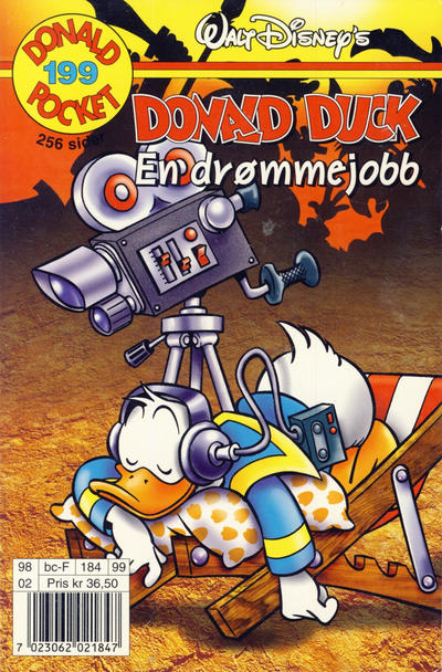Cover for Donald Pocket (Hjemmet / Egmont, 1968 series) #199 - En drømmejobb [2. utgave bc 239 60]