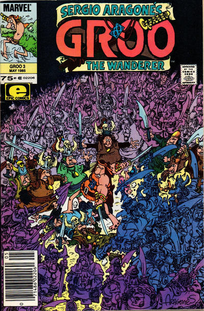 Cover for Sergio Aragonés Groo the Wanderer (Marvel, 1985 series) #3 [Direct Edition]