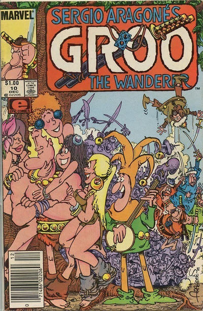 Cover for Sergio Aragonés Groo the Wanderer (Marvel, 1985 series) #10 [Direct Edition]