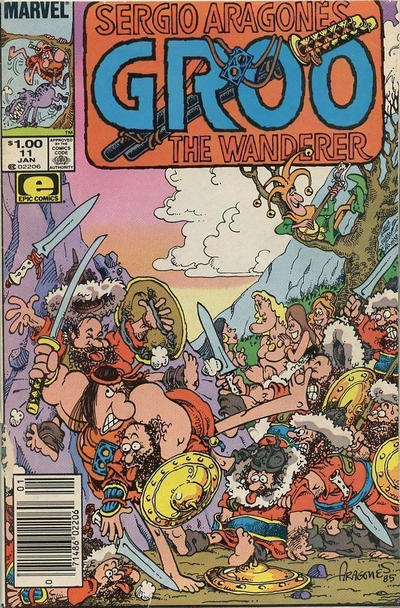 Cover for Sergio Aragonés Groo the Wanderer (Marvel, 1985 series) #11 [Newsstand Edition]