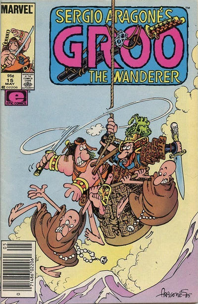Cover for Sergio Aragonés Groo the Wanderer (Marvel, 1985 series) #15 [Newsstand Edition]