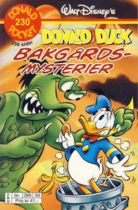 Cover Thumbnail for Donald Pocket (Hjemmet / Egmont, 1968 series) #230 - Donald Duck Bakgårdmysterier [Reutsendelse bc 390 50]