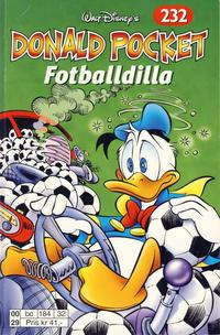 Cover Thumbnail for Donald Pocket (Hjemmet / Egmont, 1968 series) #232 - Fotballdilla [1. opplag]