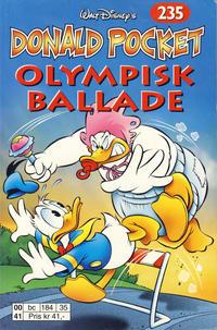 Cover Thumbnail for Donald Pocket (Hjemmet / Egmont, 1968 series) #235 - Olympisk ballade [1. opplag]