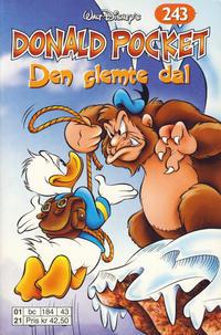 Cover Thumbnail for Donald Pocket (Hjemmet / Egmont, 1968 series) #243 - Den glemte dal [1. opplag]