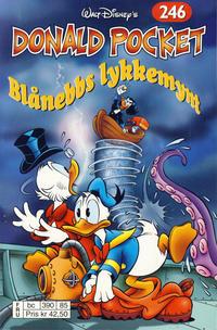 Cover Thumbnail for Donald Pocket (Hjemmet / Egmont, 1968 series) #246 - Blånebbs lykkemynt [Reutsendelse bc 390 85]