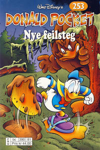 Cover Thumbnail for Donald Pocket (Hjemmet / Egmont, 1968 series) #253 - Nye feilsteg [Reutsendelse bc 390 81]