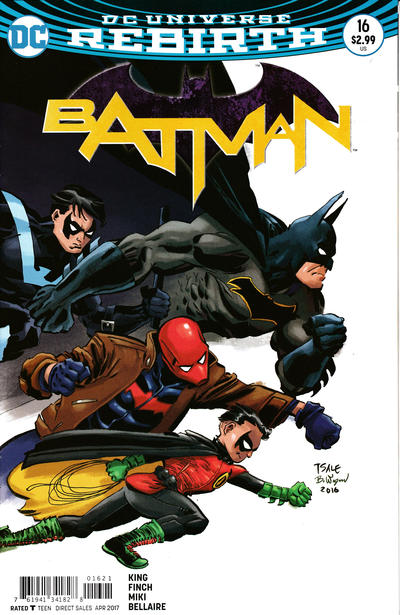 Cover for Batman (DC, 2016 series) #16 [Tim Sale Cover Variant]
