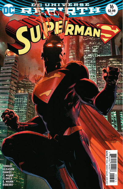 Cover for Superman (DC, 2016 series) #16 [Newsstand]