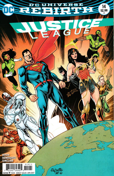 Cover for Justice League (DC, 2016 series) #14 [Bryan Hitch Cover Variant]