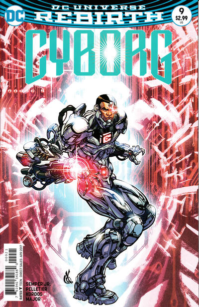 Cover for Cyborg (DC, 2016 series) #9 [Carlos D'Anda Variant Cover]
