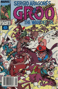 Cover for Sergio Aragonés Groo the Wanderer (Marvel, 1985 series) #61 [Direct Edition]