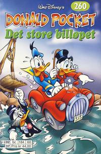 Cover Thumbnail for Donald Pocket (Hjemmet / Egmont, 1968 series) #260 - Det store billøpet [1. opplag]