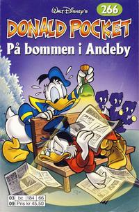 Cover Thumbnail for Donald Pocket (Hjemmet / Egmont, 1968 series) #266 - På bommen i Andeby [1. opplag]