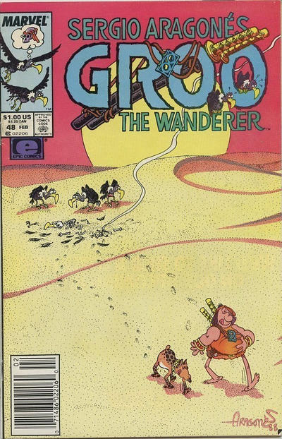 Cover for Sergio Aragonés Groo the Wanderer (Marvel, 1985 series) #48 [Direct Edition]