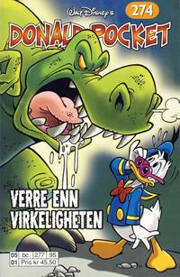 Cover Thumbnail for Donald Pocket (Hjemmet / Egmont, 1968 series) #274 - Verre enn virkeligheten [Reutsendelse bc 277 95]