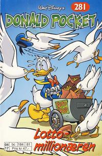 Cover Thumbnail for Donald Pocket (Hjemmet / Egmont, 1968 series) #281 - Lottomillionæren [1. opplag]