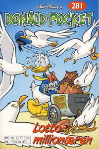 Cover Thumbnail for Donald Pocket (Hjemmet / Egmont, 1968 series) #281 - Lottomillionæren [Reutsendelse bc 277 92]
