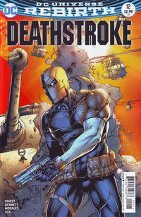 Cover Thumbnail for Deathstroke (DC, 2016 series) #12 [Shane Davis Cover Variant]
