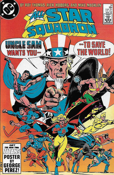 Cover for All-Star Squadron (DC, 1981 series) #31 [Newsstand]