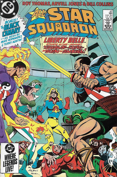 Cover for All-Star Squadron (DC, 1981 series) #42 [Direct Sales]
