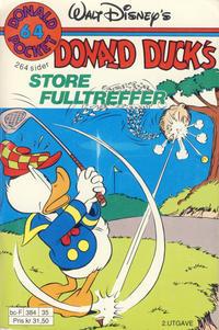 Cover Thumbnail for Donald Pocket (Hjemmet / Egmont, 1968 series) #64 - Donald Ducks store fulltreffer [2. utgave bc-F 384 35]