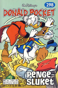 Cover for Donald Pocket (Hjemmet / Egmont, 1968 series) #298 - Pengesluket [Reutsendelse bc 277 82]