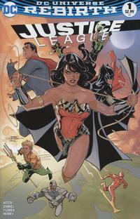 Cover for Justice League (DC, 2016 series) #1 [Golden Apple Comics Darick Robertson Cover]