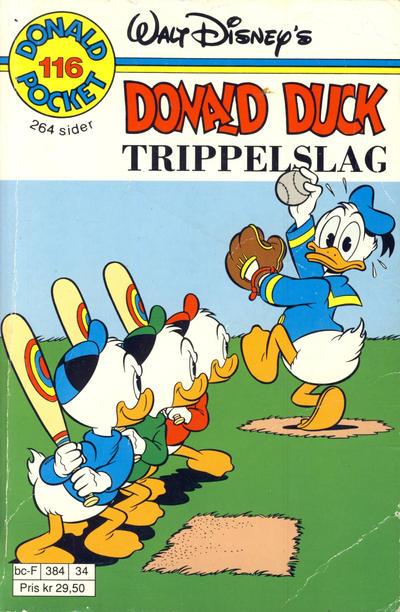 Cover for Donald Pocket (Hjemmet / Egmont, 1968 series) #116 - Donald Duck Trippelslag [1. opplag]