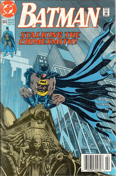 Cover for Batman (DC, 1940 series) #444 [Direct Edition]