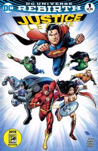 Cover Thumbnail for Justice League (DC, 2016 series) #1 [Golden Apple Comics Darick Robertson Cover]