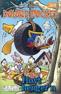 Cover Thumbnail for Donald Pocket (Hjemmet / Egmont, 1968 series) #304 - Høyt henger'n [Reutsendelse bc 277 78]