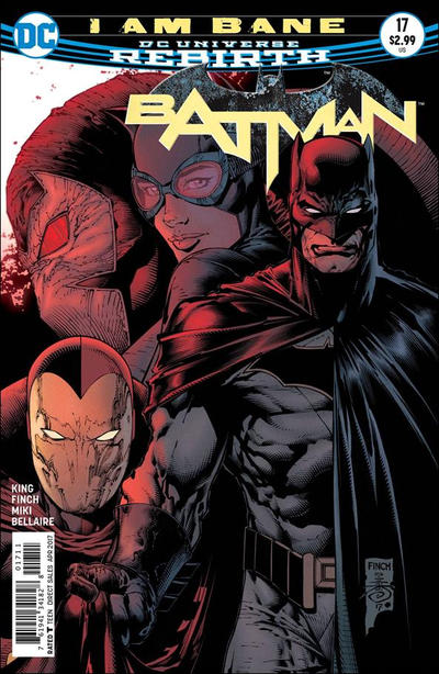 Cover for Batman (DC, 2016 series) #17 [Tim Sale Cover Variant]