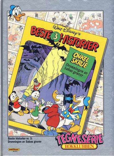 Cover for Tegneseriebokklubben (Hjemmet / Egmont, 1985 series) #92 - Beste Historier 3: Dronningen av Sabas gruver; Elno: Innhentet av fortiden